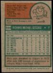 1975 Topps #554  Goose Gossage  Back Thumbnail
