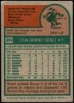 1975 Topps #283  Steve Foucault  Back Thumbnail