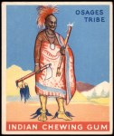 1933 Goudey Indian Gum #17   Chief of the Osages Tribe  Front Thumbnail