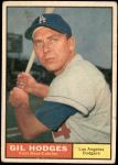 1961 Topps #460  Gil Hodges  Front Thumbnail