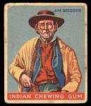 1933 Goudey Indian Gum #54  Jim Bridger   Front Thumbnail
