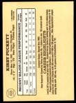 1985 Donruss #438  Kirby Puckett  Back Thumbnail