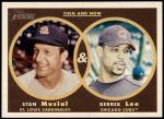 2006 Topps Heritage Then & Now #7 TN Stan Musial/Derrek Lee  Front Thumbnail