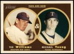 2006 Topps Heritage Then & Now #2 TN Ted Williams/Michael Young  Front Thumbnail