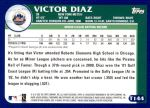 2003 Topps Traded #144 T  -  Victor Diaz Prospect Back Thumbnail