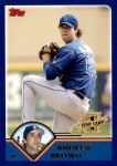 2003 Topps Traded #212 T  -  Andrew Brown First Year Front Thumbnail