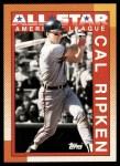 1990 Topps #388   -  Cal Ripken Jr. All-Star Front Thumbnail
