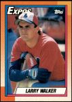 1990 Topps #757  Larry Walker  Front Thumbnail