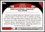 2009 Topps Update #181  Zach Duke  Back Thumbnail