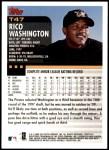 2000 Topps Traded #47 T Rico Washington  Back Thumbnail