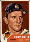 1953 Topps #36  Johnny Groth  Front Thumbnail