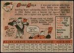 1958 Topps #276  Bobby Avila  Back Thumbnail