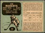 1970 O-Pee-Chee #213  Jim Roberts  Back Thumbnail