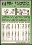 1967 Topps #357  Bill Skowron  Back Thumbnail