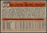 1957 Topps #67  Chico Carrasquel  Back Thumbnail