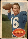 1960 Topps #74  Frank Gifford  Front Thumbnail