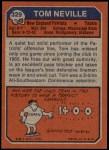 1973 Topps #329  Tom Neville  Back Thumbnail
