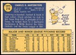 1970 Topps #216  Chuck Hartenstein  Back Thumbnail