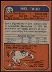 1973 Topps #519  Mel Farr  Back Thumbnail