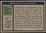 1972 Topps #240  Larry Little  Back Thumbnail
