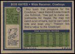 1972 Topps #105  Bob Hayes  Back Thumbnail