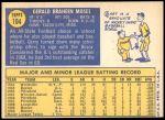 1970 Topps #104  Gerry Moses  Back Thumbnail
