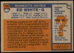 1976 Topps #230  Ed White   Back Thumbnail