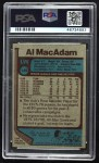 1977 Topps #149 WLF Al MacAdam  Back Thumbnail