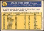 1970 Topps #426  Bill Rigney  Back Thumbnail