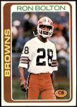 1978 Topps #329  Ron Bolton  Front Thumbnail
