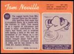 1970 Topps #161  Tom Neville  Back Thumbnail