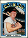1972 Topps #250  Boog Powell  Front Thumbnail