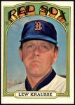 1972 Topps #592  Lew Krausse  Front Thumbnail