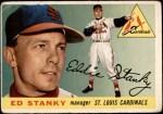 1955 Topps #191  Eddie Stanky  Front Thumbnail