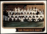 1974 Topps #281   Giants Team Front Thumbnail