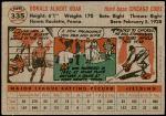 1956 Topps #335  Don Hoak  Back Thumbnail