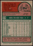 1975 Topps #519  Jim Todd  Back Thumbnail