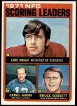1972 Topps #8   -  Curt Knight / Errol Mann / Bruce Gossett NFC Scoring Leaders Front Thumbnail
