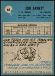 1964 Philadelphia #85  Jon Arnett   Back Thumbnail