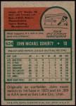 1975 Topps #524  John Doherty  Back Thumbnail