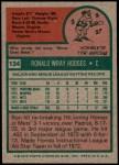 1975 Topps #134  Ron Hodges  Back Thumbnail