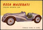 1954 Topps World on Wheels #15   Osca Maserati Front Thumbnail