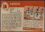 1954 Topps World on Wheels #10   Lancia Back Thumbnail
