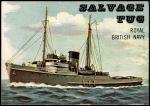 1955 Topps Rails & Sails #186   Salvage Tug Front Thumbnail