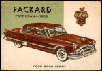 1954 Topps World on Wheels #97   Packard Patrician 1953 Front Thumbnail