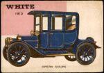 1954 Topps World on Wheels #17   White Opera Coupe 1910 Front Thumbnail
