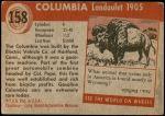 1954 Topps World on Wheels #158   Columbia Landaulet 1905 Back Thumbnail