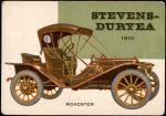 1954 Topps World on Wheels #125   Stevens-Duryea Roadster 1910 Front Thumbnail