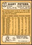 1968 Topps #210  Gary Peters  Back Thumbnail