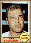 1968 Topps #558  Johnny Edwards  Front Thumbnail